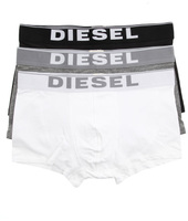 Diesel Kory Pack of 3 Boxer Shorts - White, Grey and Black