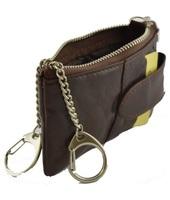 Portamonete Dream Leather Bags Made In Italy  Portachiavi Uomo In Pelle Colore Moro - Pelletteria Toscana Made