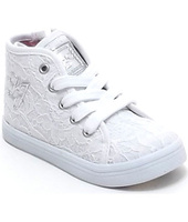 Scarpe bambini Liu Jo  scarpe bambina, articolo 22056B, sneakers in pizzo, colore bianc
