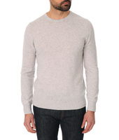Celio Club Tibet light grey cashmere round-neck jumper