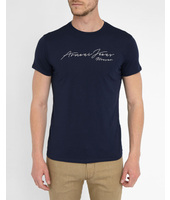 Navy Armani Jeans Signature T-Shirt