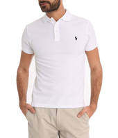 Polo Ralph Lauren White Stretch Slim-fit Polo