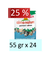 Almo Nature Green Label Raw Pack Filetto di Tonno Tonggol : 55 gr x 24