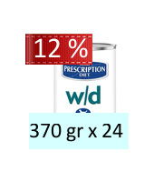 Hill's Prescription Diet w/d Canine : 370 gr x 24