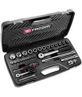 Facom - Kit di chiavi a bussola, 6,35-12,7 mm