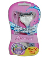 Wilkinson Rasoio A Tre Lame Xtreme 3 Beauty 4+2 pz