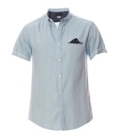 Jack & Jones SHIRT S/S KINGSFORD - Camicia - celeste