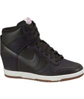 Nike WMNS DUNK SKY HI VLVT BRWN/VLVT BRWN-SL-LT MGNT - Sneaker con zeppa - nero