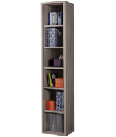 COMPOSAD Libreria alta moderna cinque mensole stretta rovere tartufo LB4802 L44h217p36
