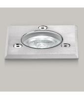 GEA LED Faretto incasso acciaio gea led ge-ges221 ges221c ip67 modulo led 1w incasso terra quadrato calpestabile esterno, tonalità luce luce calda