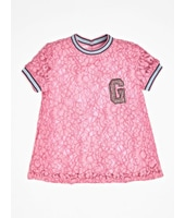 Guess T-Shirt Pizzo Logo Frontale