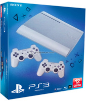 Bundle Sony Playstation 3 (PS3) Console 12GB White P Chassis + 2 Dual Shock 3 White (PlayStation 3)