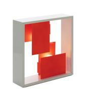Artemide lampada da tavolo o da parete FATO BI-COLOR (Bianco / Corallo - Acciaio)