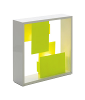 Artemide lampada da tavolo o da parete FATO BI-COLOR (Bianco / Giallo - Acciaio)
