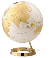 ATMOSPHERE lampada da tavolo mappamondo LIGHT & COLOUR BRIGHT (Gold - PMMA)