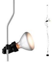 Flos lampada a sospensione PARENTESI D con dimmer (Bianco - Acciaio / Elastomero)
