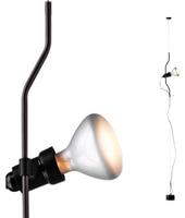 Flos lampada a sospensione PARENTESI D con dimmer (Nero - Acciaio / Elastomero)