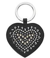 Swarovski Betty Deluxe Black Heart Portachiavi