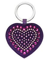 Swarovski Betty Deluxe Purple Heart Portachiavi