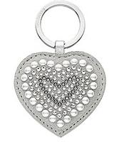 Swarovski Betty Romantic Gray Heart Portachiavi
