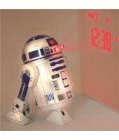 Star Wars R2D2 sveglia tridimensionale che emette i suoni di R2D2 e che proietta l'ora sulla parete 12x15 cm