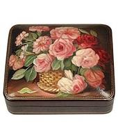 Bianchi Art Works Bouquet di Fiori - Olio su Pelle Portagioie