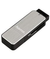 Hama 123900 USB 3.0 Nero, Argento lettore di schede