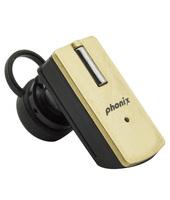 Phonix PBTT9+G Aggancio Monofonico Senza fili Nero, Oro auricolare per