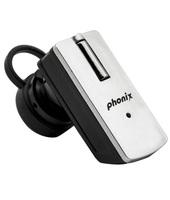 Phonix PBTT9+S Aggancio Monofonico Senza fili Nero, Argento auricolare